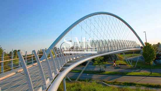 Diagonal Span Arch Bridge Shanghai Metal Corporation