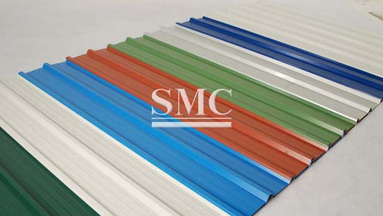 Prepainted Corrugated Galvanized Steel Sheet Roofing Sheet For Cement Warehouse Price Supplier Manufacturer Shanghai Metal Corporation